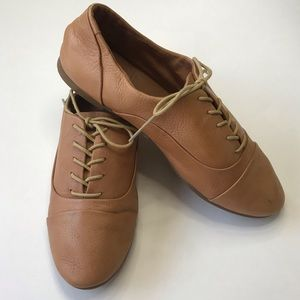 Lucky Brand Tan Leather Oxfords